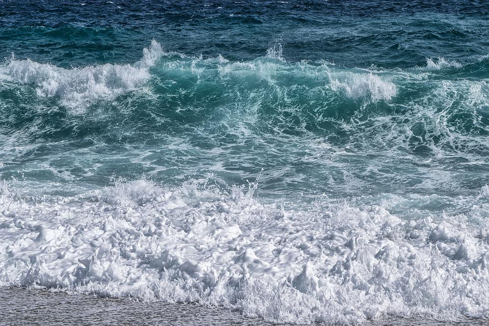 Wave, Sea, Beach, Foam, Blue