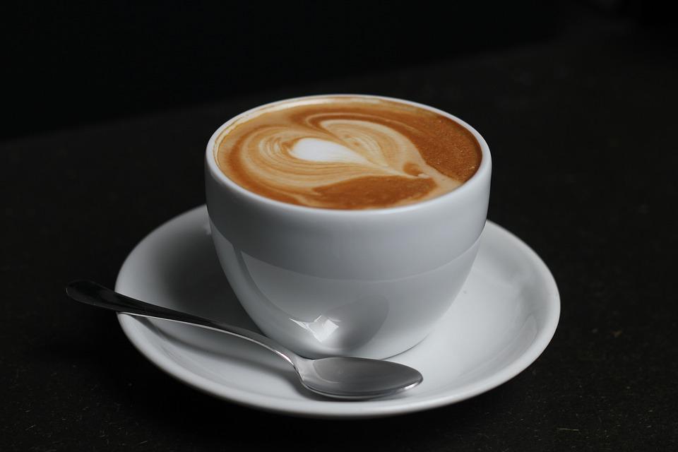 Coffee, Cup, Spoon, Foam, Heart, Cafe, Beans