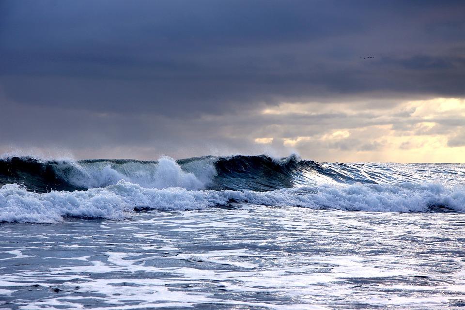 Waters, Surf, Sea, Ocean, Horizontal, Forward, Foam
