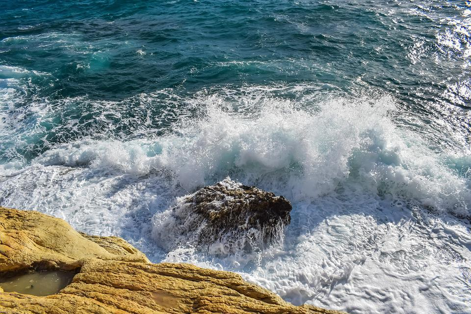 Wave, Sea, Nature, Foam, Spray, Coast, Rock, Splash