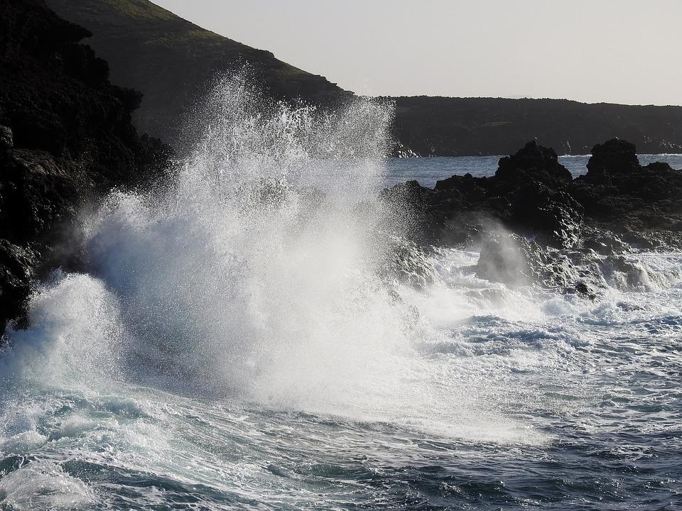 Wave, Sea, Surf, Foam, Back Light, Spray