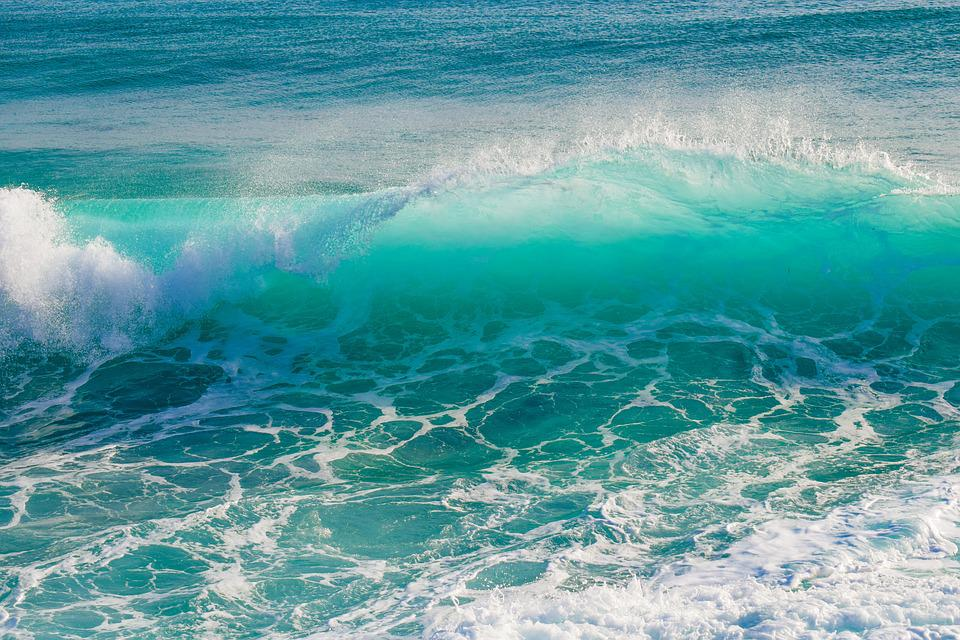 Wave, Transparent, Smashing, Spray, Foam, Wind