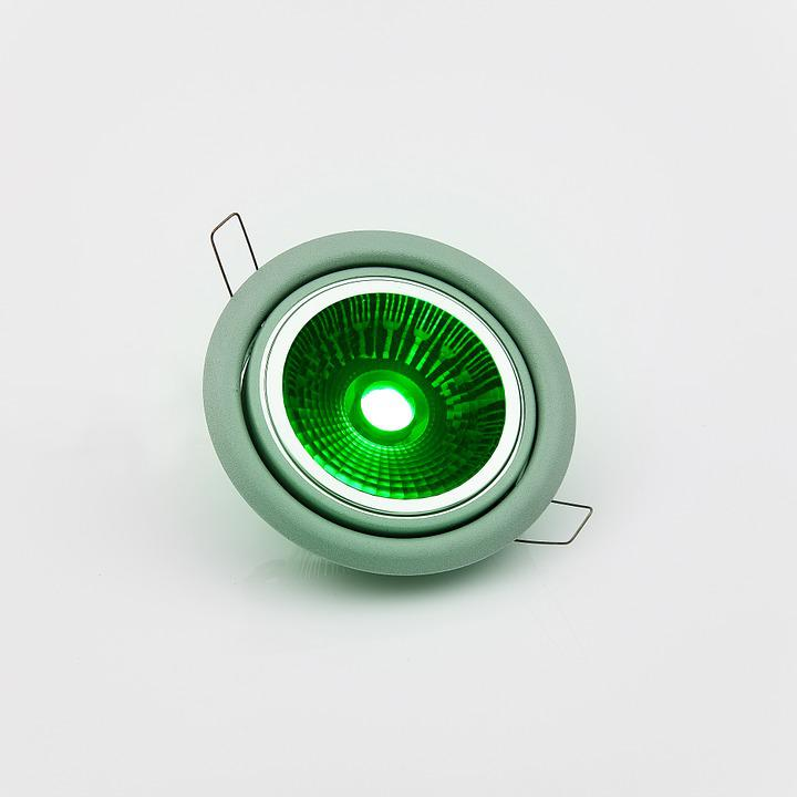 Led, Lamp, Green, Lighting, Light, Focus, Electricity