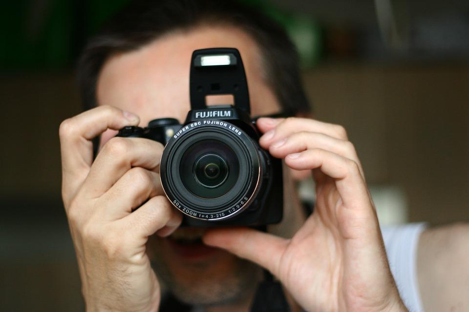 Camera, Photographer, Focusing, Photography, A Man