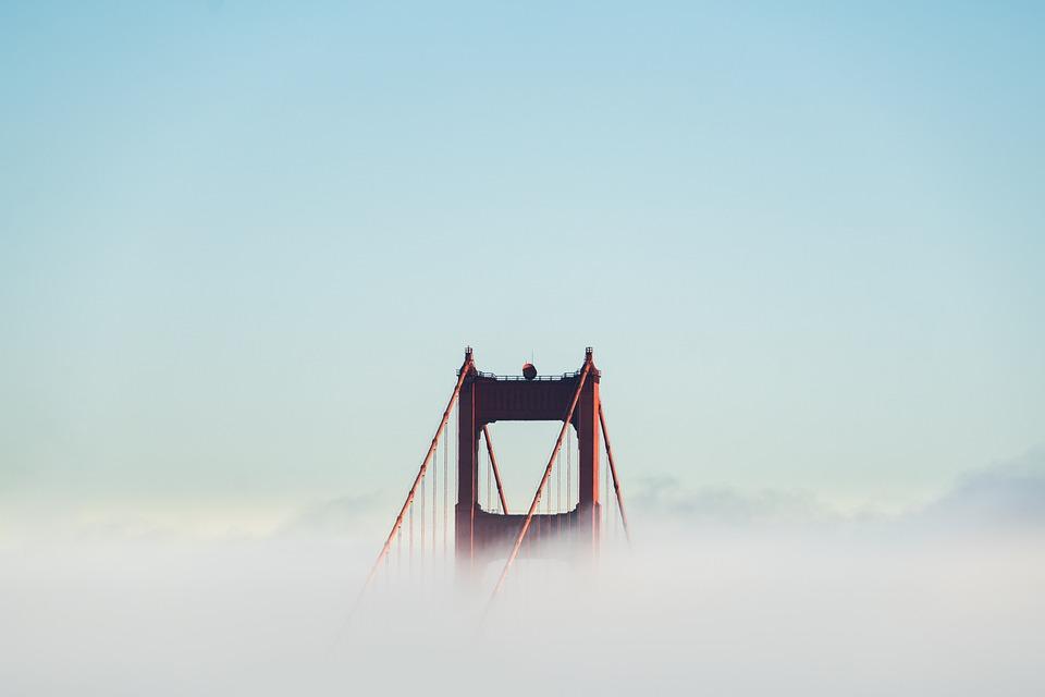 Fog, Golden Gate Bridge, Bay Area, Suspension Bridge