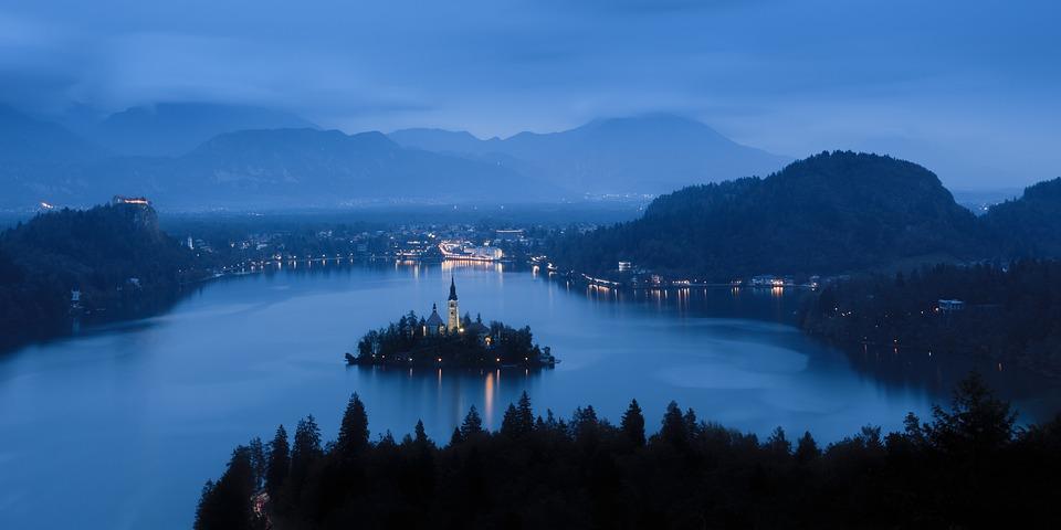 Architecture, Castle, Dawn, Evening, Fog, Harbor