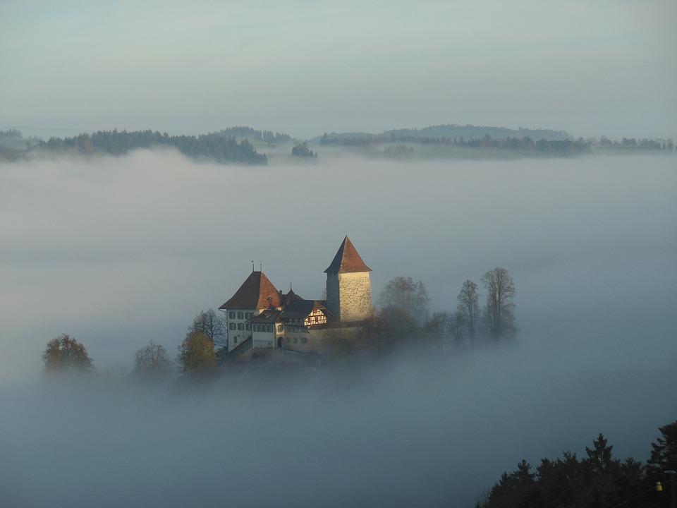 Fog, Dawn, Landscape
