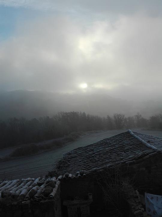 Fog, Field, Farmhouse