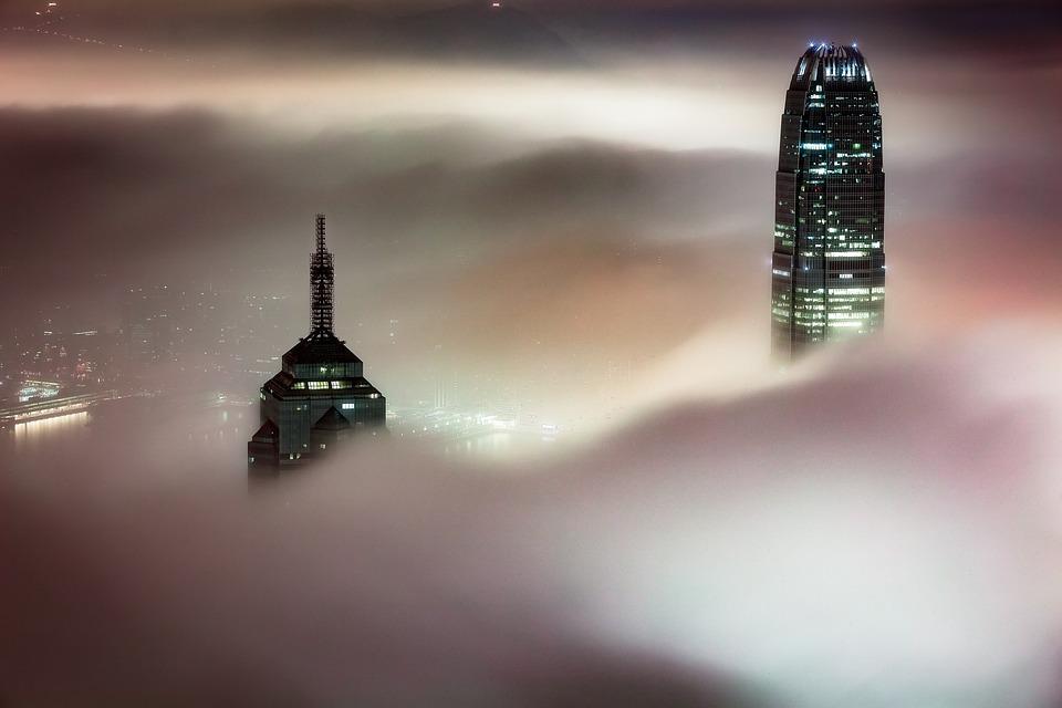 Skyscraper, Dust, Fog, Foggy, Architecture, Building