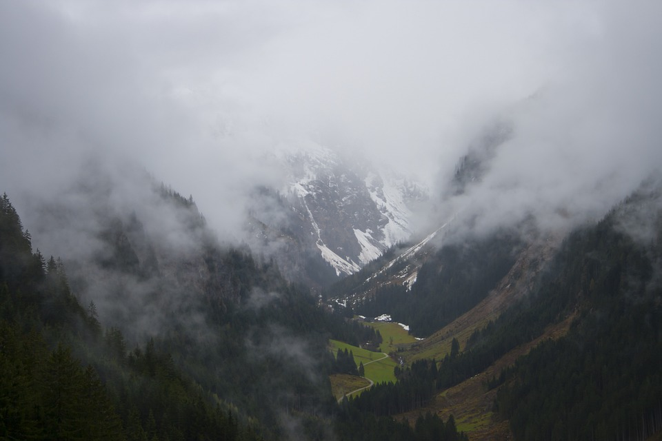 Clouds, Fog, Valley, Mountains, Hill, Landscape
