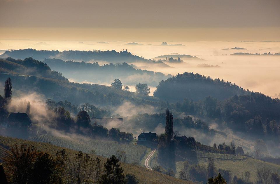 Austria, Fog, Nature, Landscape
