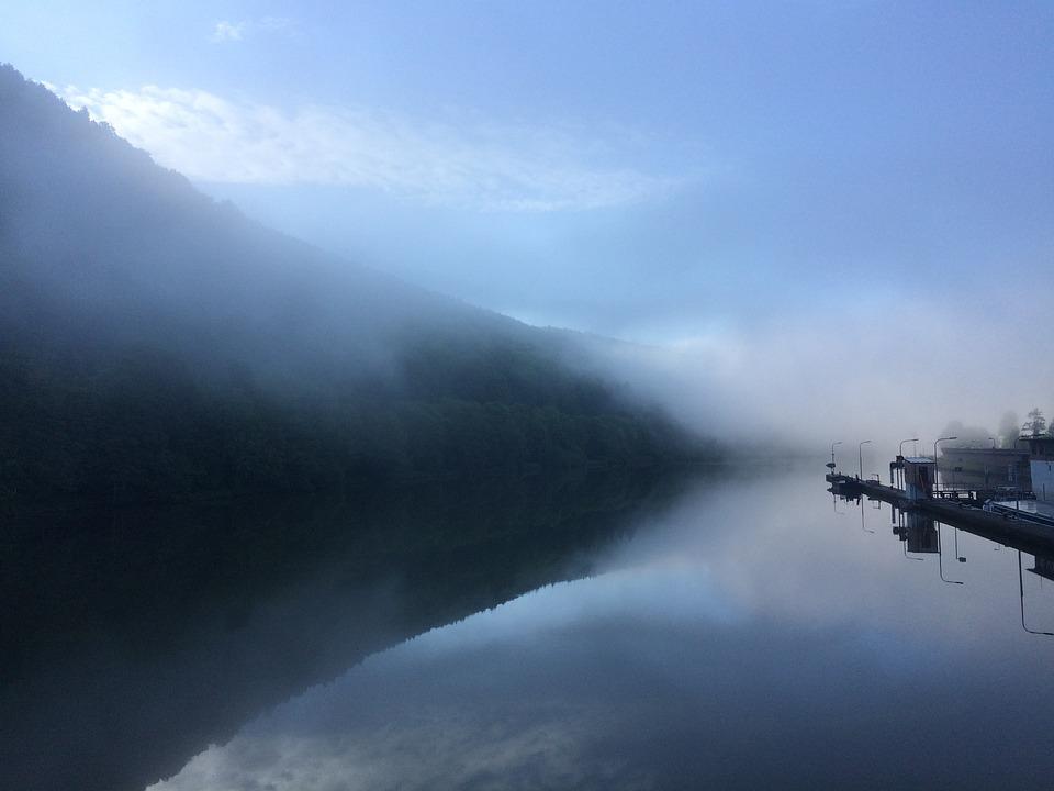 Fog, Water, Morning, Light