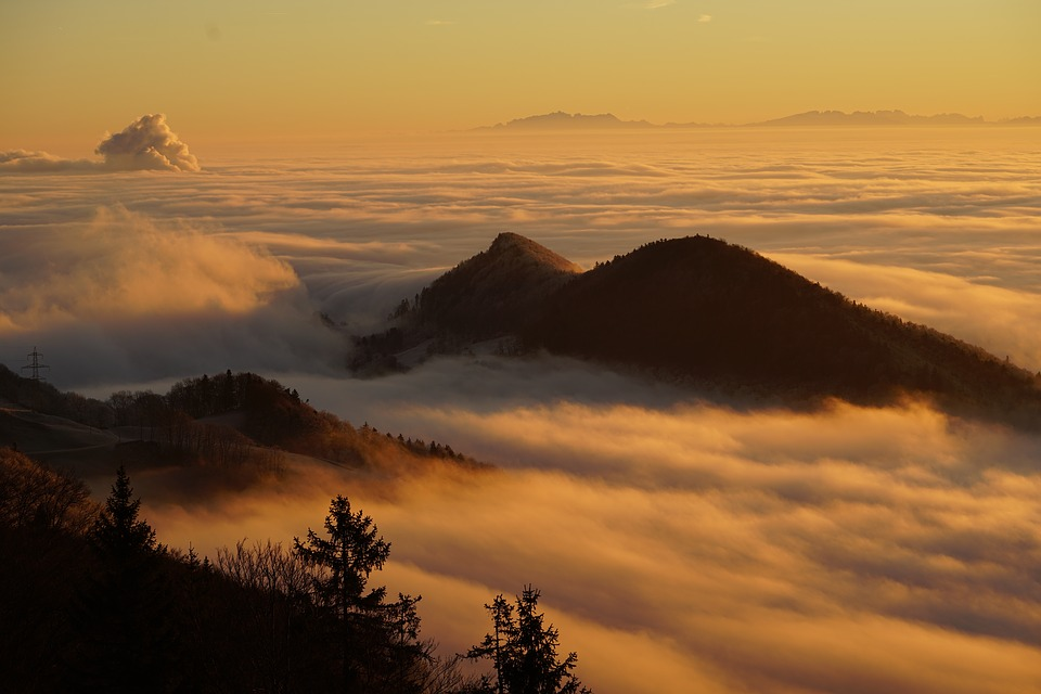 Homberg, Clouds, Selva Marine, Sea Of Fog, Fog Lights