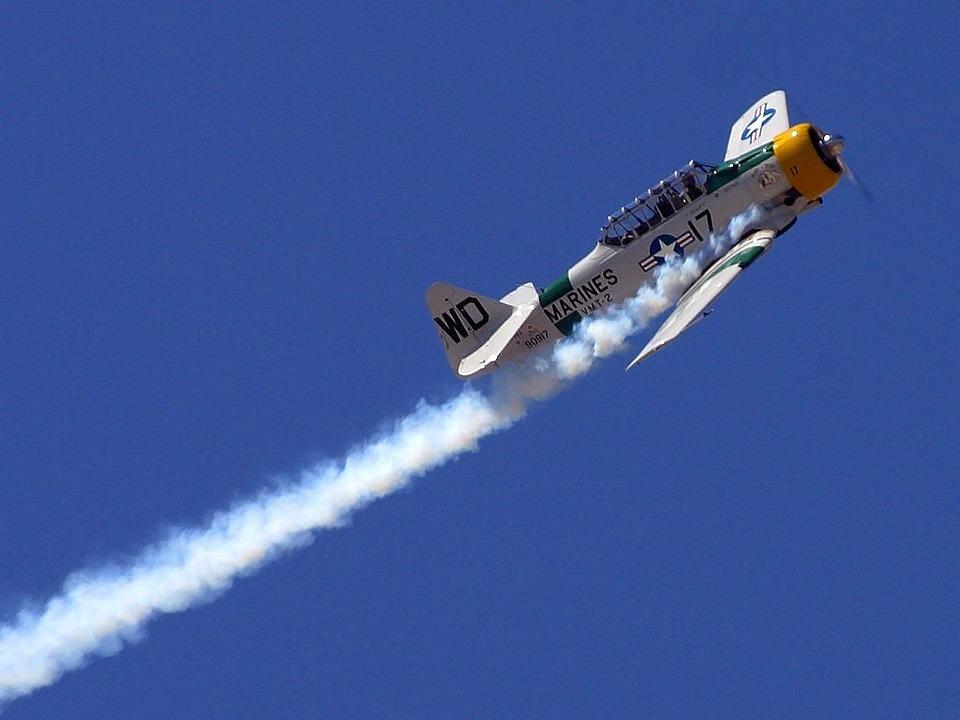 Aerobatics, Aircraft, Marines, Fog, Trace, Propeller