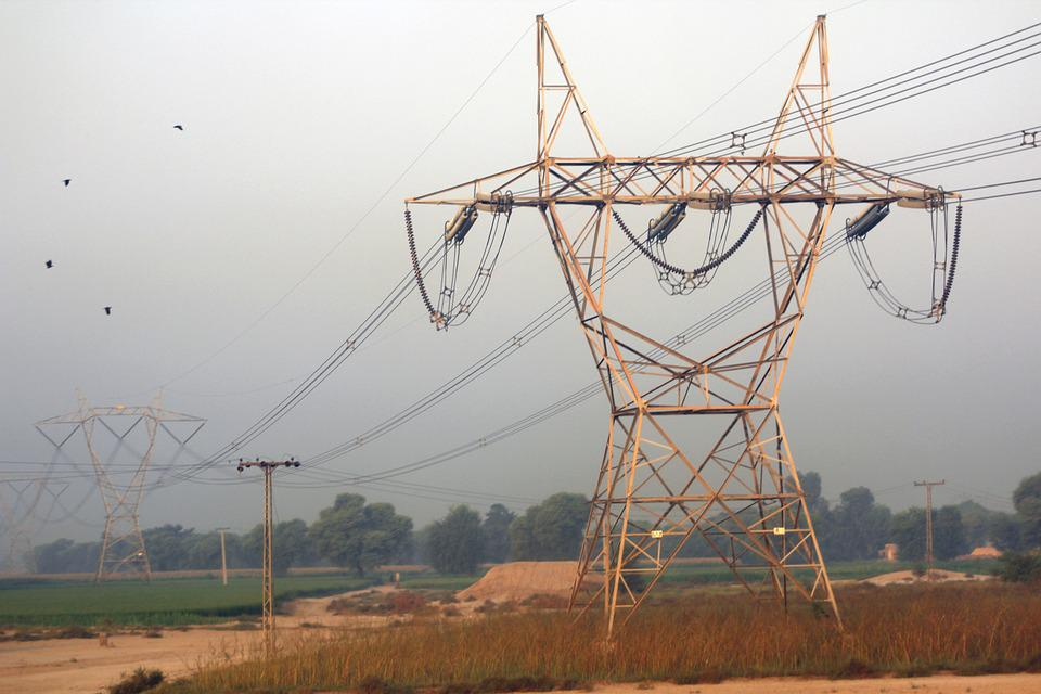 Electric, Pylon, Voltage, Wires, Morning, Trees, Fog