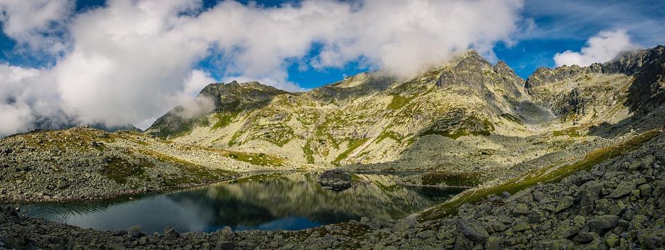 Landscape, Mountains, Mountain Clouds, Fog, Lake