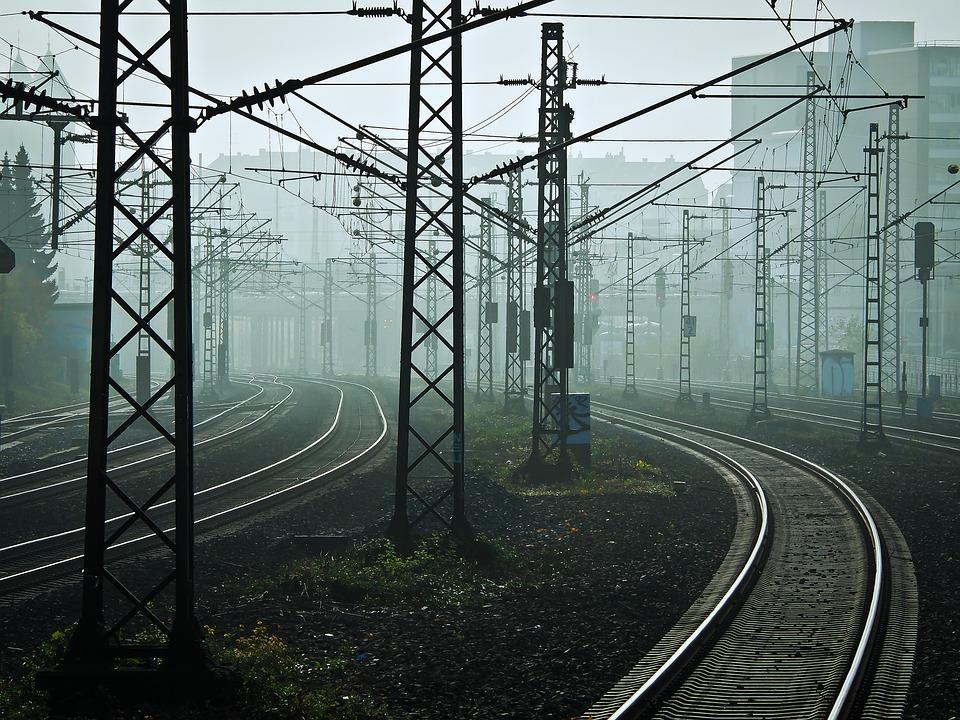 Railway, Tracks, Fog, Rails, Railroad Tracks
