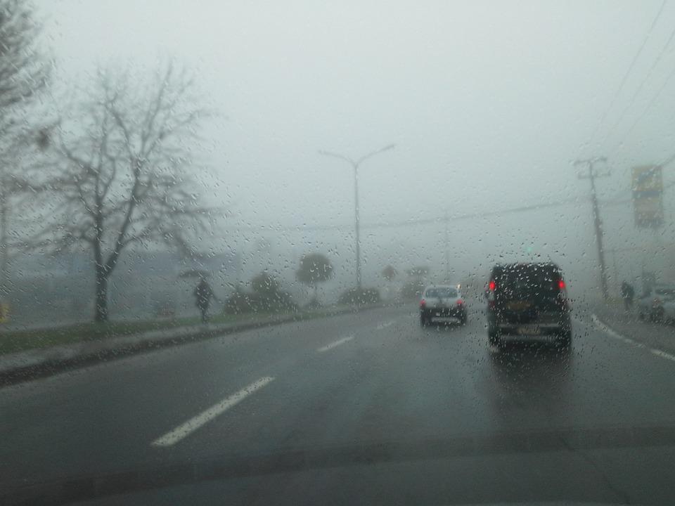 Fog, Rent A Car, Road