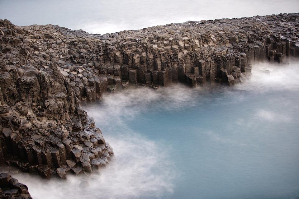 Jusangjeolli Cliff, Coast, Sea, Ocean, Fog, Coastline