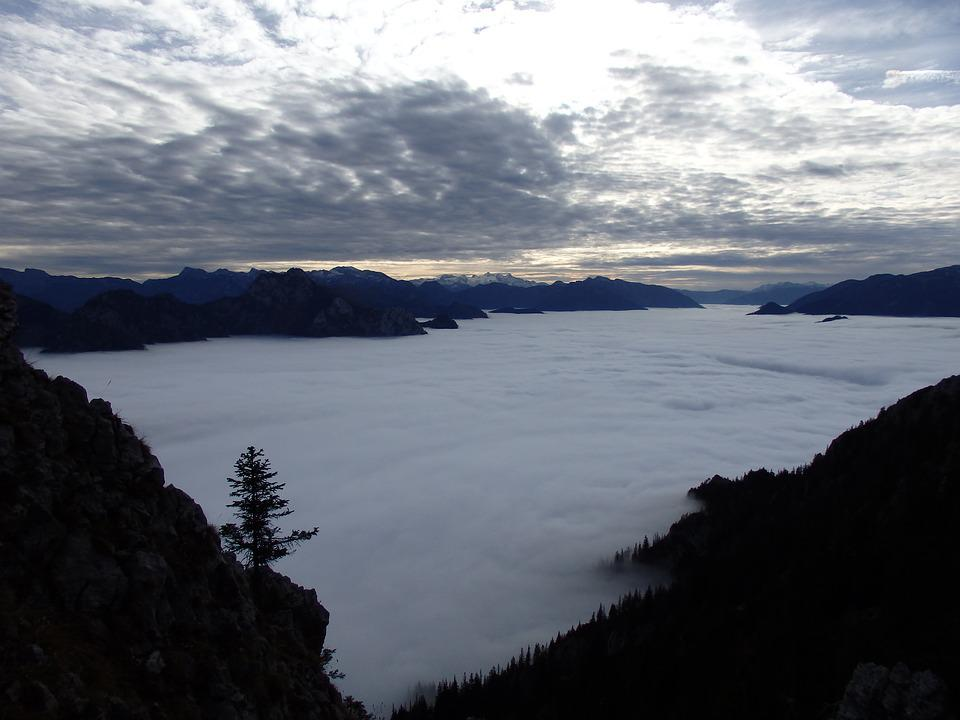 Traunsee, Dachstein, Fog, Inversion Weather Situation