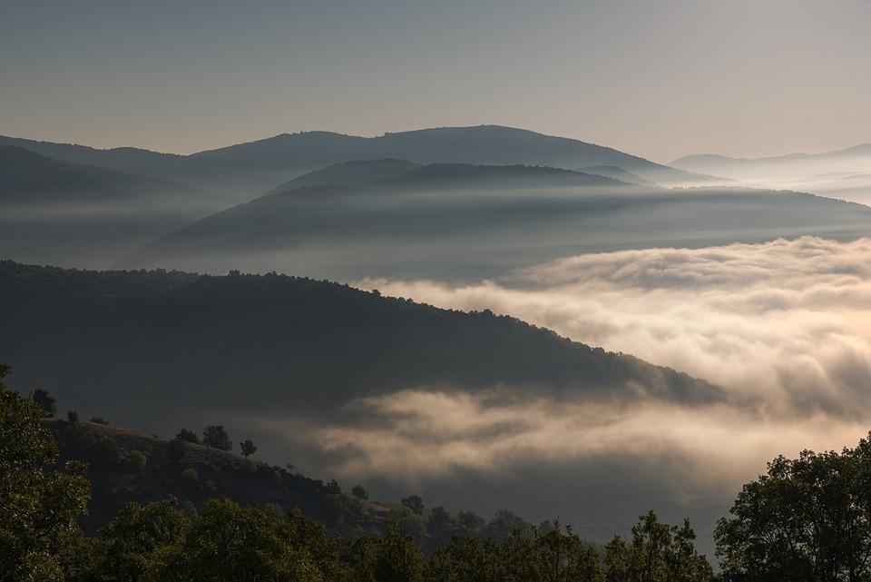 Foggy, Mountains, Lake, Landscape, Nature, Mountain