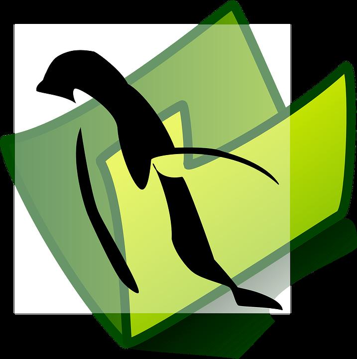 Penguin, Folder, Picture, Sign, Symbol, Icon