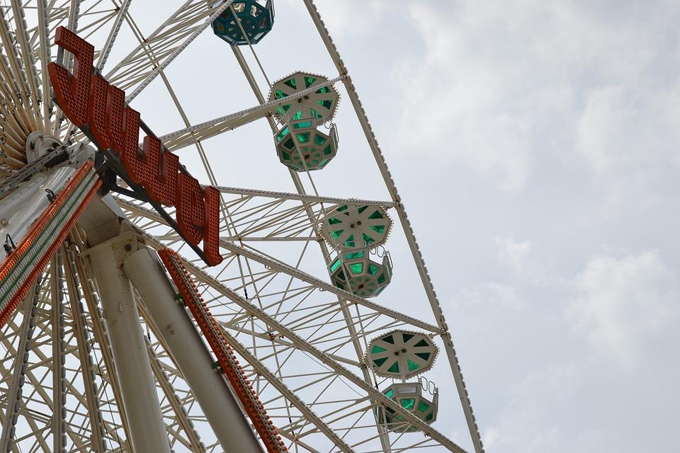 Ferris Wheel, Year Market, Folk Festival, Carousel