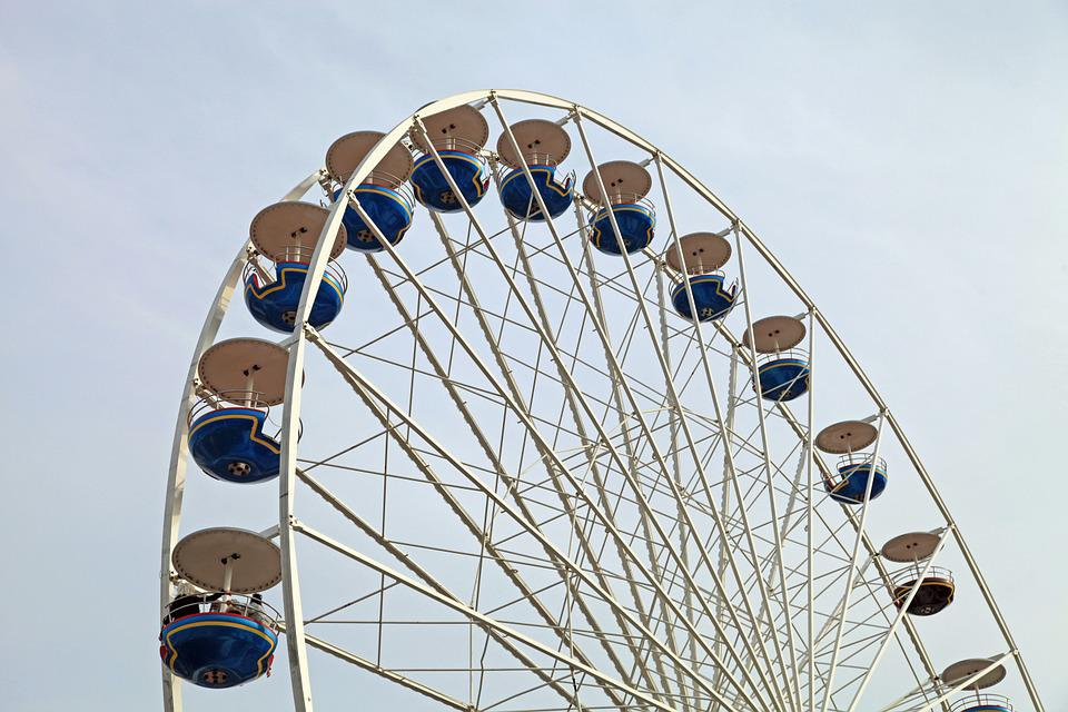 Ferris Wheel, Folk Festival, Gondolas, Ride, High