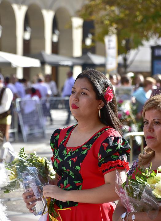 Folklore, Devotion, Flowers, Pillar, Saragossa