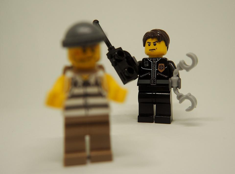 Police, Thief, Theft, Lego, Arrest, Follow, Handcuffs