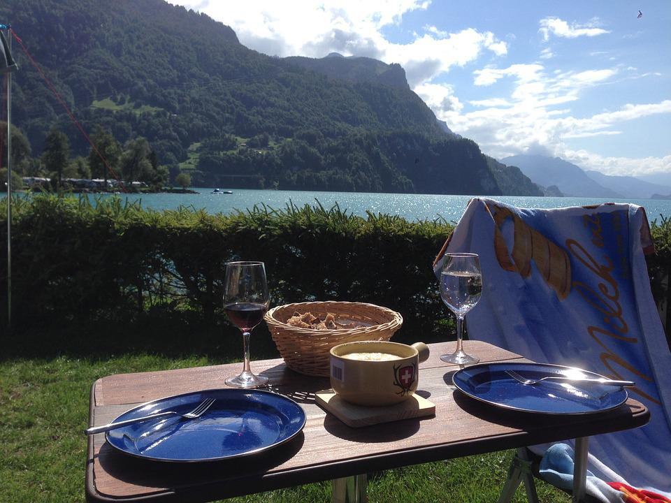 Fondue, Switzerland, Mountains, Lake, Camping, Holidays