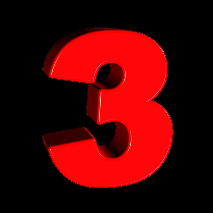 Three, Number, 3, Digit, Font