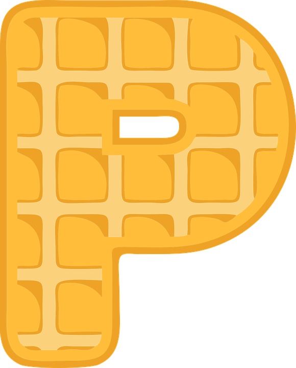 P, Alphabet, Waffle, Letter, Typography, Text, Font
