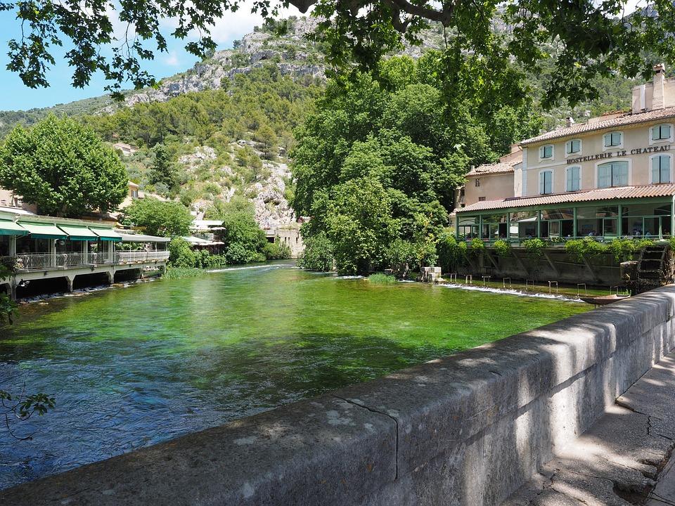Fontaine-de-vaucluse, River, Water, Source, Stream