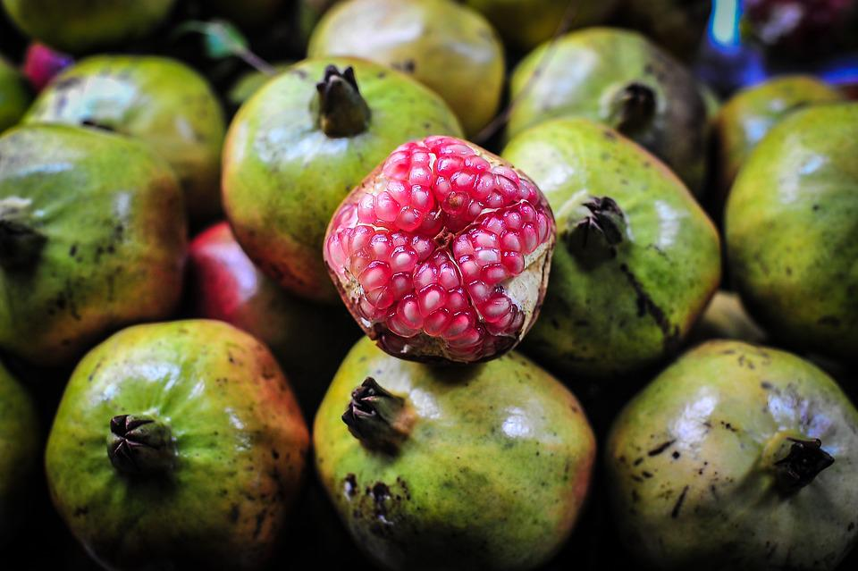 Asia, Food, Fruit, Green, Market, Red