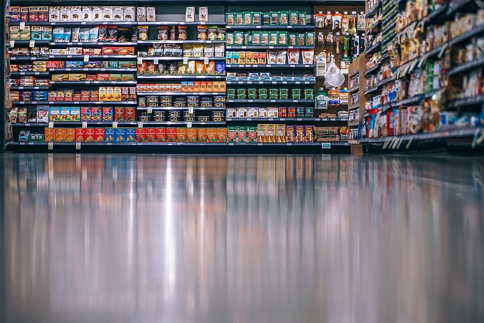 Aisle, Background, Buy, Clean, Food, Grocery