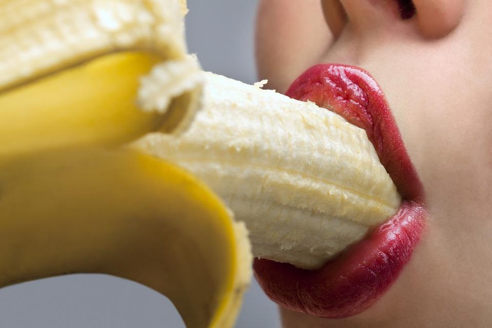 Banana, Food, Eat, Enjoy, Mouth