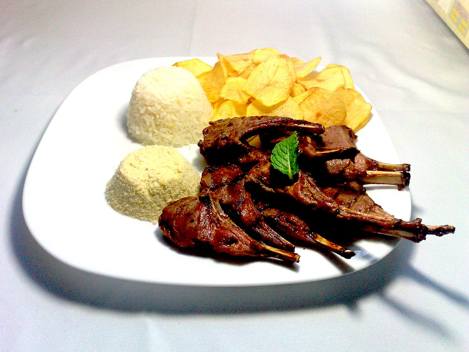 Ribs, Potato, Chips, Food, Beef, Red, Vegetable, Spices