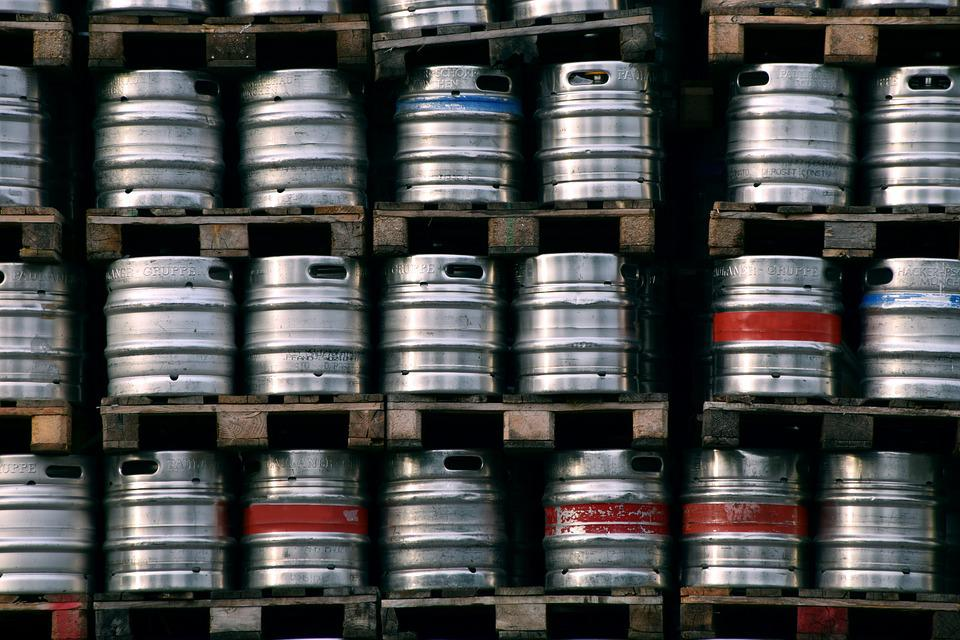 Beer, Beer Barrels, Metal, Small Beer Kegs, Food, Drink