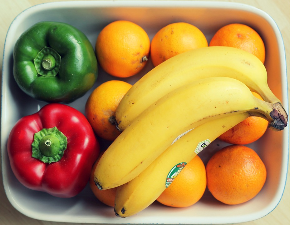Food, Healthy, Vegetables, Fruits, Bananas, Bowl