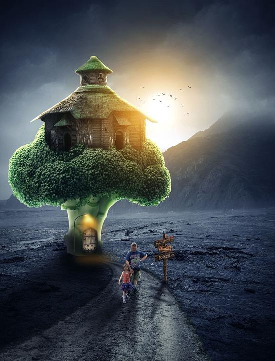 Broccoli House, Vegetable, Food, Fantasy, Healthy
