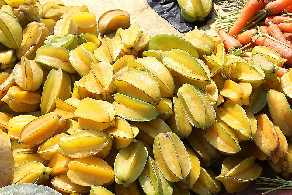 Starfruit, Carambola, Fruit, Indian, Tropical, Food