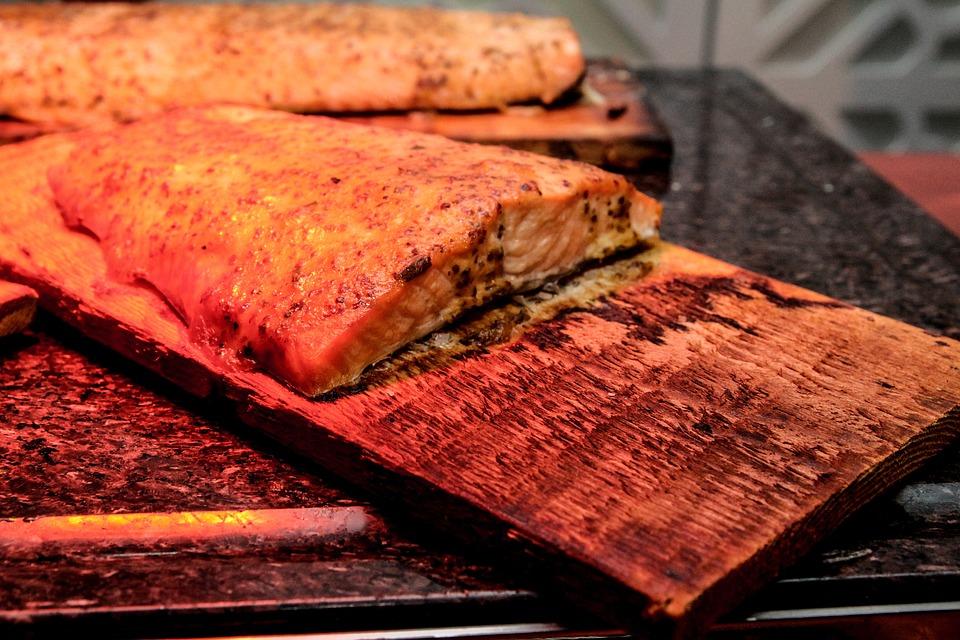 Salmon, Cedar Plank Salmon, Fish, Food, Planked, Cedar