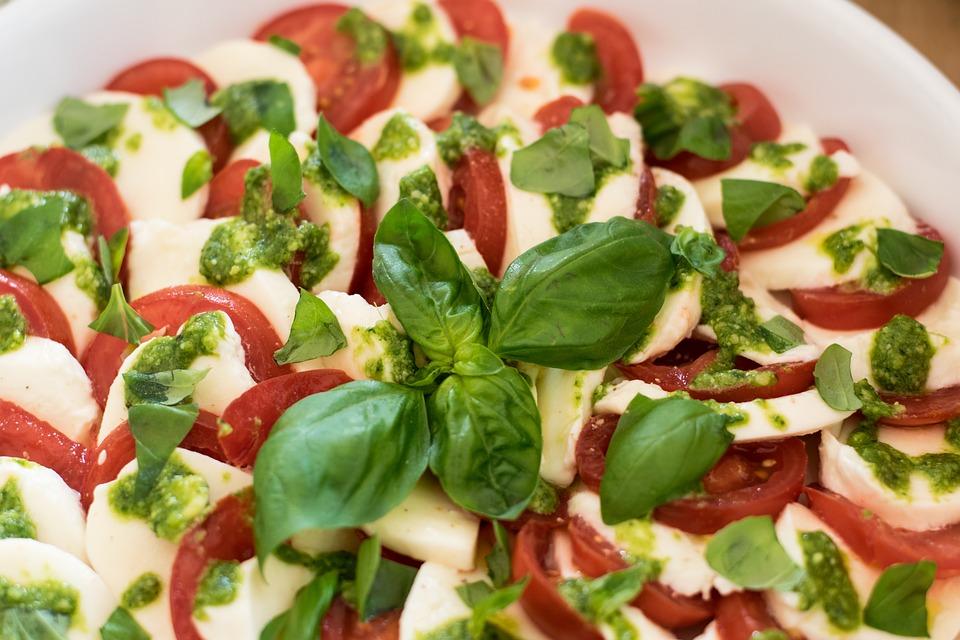 Basil, Food, Vegetables, Cheese, Meal, Gourmet, Healthy