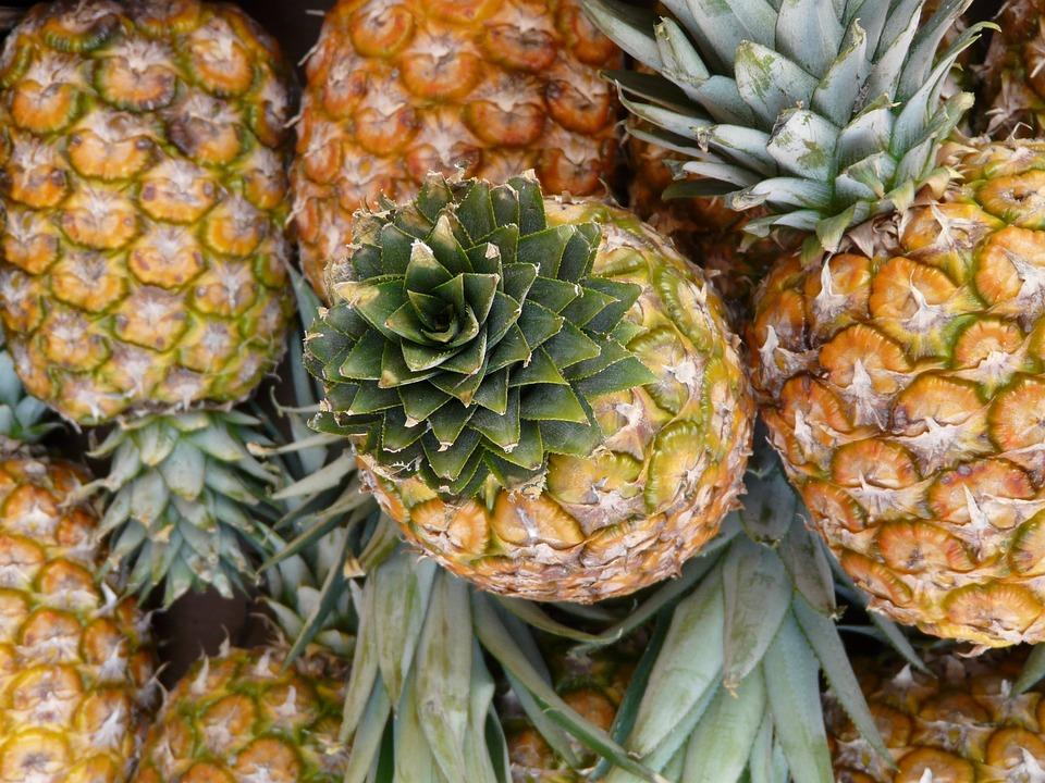 Pineapple, Fruit, Sweet, Food, Healthy, Vitamins, Close