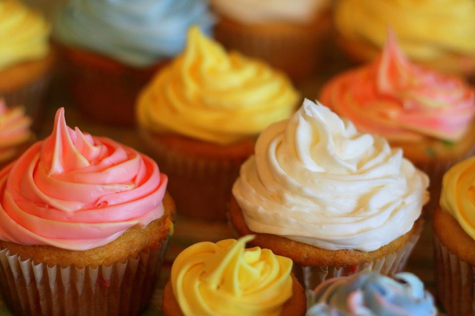 Cupcake, Colorful, Pastel, Food, Cake, Sweet, Dessert