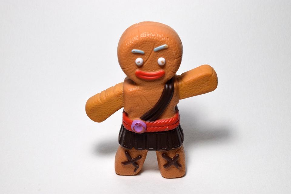 Gingerbread Man, Cookie, Food, Cartoon, Character