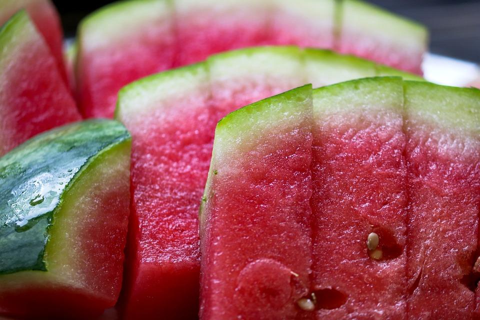 Melon, Watermelon, Cut, Pieces, Fruit, Food, Healthy