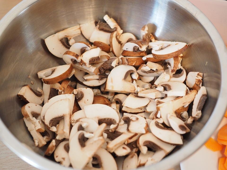 Mushrooms, Ingredient, Preparation, Eat, Food, Cut