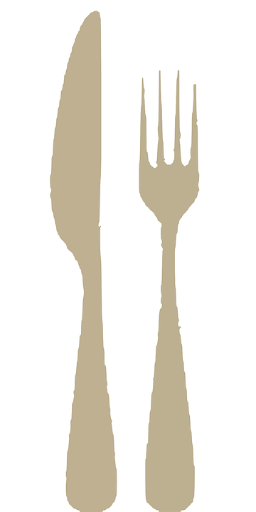 Cutlery, Dishes, Fork, Knife, Eating, Restaurant, Food